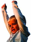 boy with both hands raised - plan to protect children from child abuse