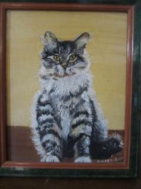 Cat Patinted by Diane Roblin-Lee at age 8