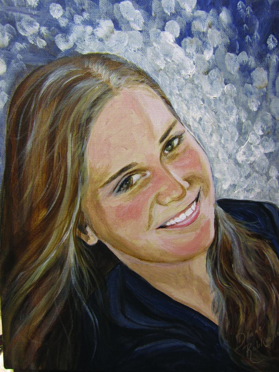 """""""Bethany"""" Acrylic Painting by Diane Roblin-Lee"""